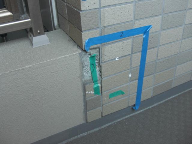 壁タイルの剥離